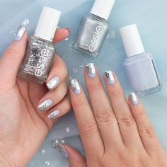 Jennifer Dye on Twitter: This icy look is @essie Virgin Snow, Apres-chic and Set in Stones