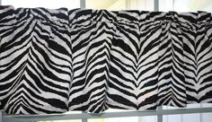 Valance  Zebra Print Black and White   53 by southseacollection, $25.50