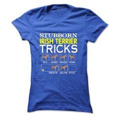 Irish Terrier T Shirts, Hoodies. Check price ==► https://www.sunfrog.com/LifeStyle/Irish-Terrier-83922998-Ladies.html?41382