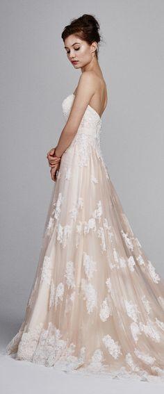 Blush Wedding Dress by Kelly Faetanini