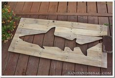pallet art shark week