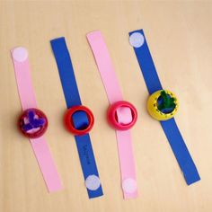Pouch Cap Crafts- Easy Upcycled DIY Pretend Play Watches and Bracelets for kids