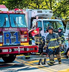 FEATURED POST @brickcityfire - MVA extrication on McCarter Hwy Rescue 1  Engine 10 Truck 5