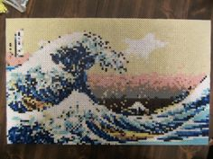 The Great Wave Off Kanagawa Perler Bead Art by DesignsBySarette