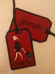 Flight Attendant Bag Tag Personalized. $10.00, via Etsy.