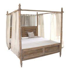 Hampton Queen Canopy Bed - Beds & Bedheads - Bedroom