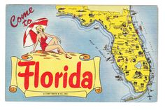 Vintage Florida Postcard unused by PicturesFromThePast on Etsy
