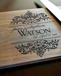 Personalised Laser Engraved Wooden Chopping Board
