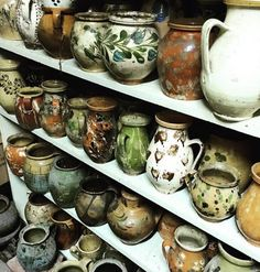 Antique Hungarian pottery.