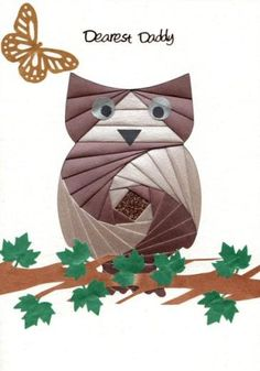 Image detail for -iris folding card pack c5 owl
