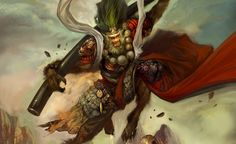Fantasy & Gaming Wallpapers To Inspire Your Desktop Fantasy Samurai, Samurai Warrior, Character Art, Character Design, The Holy Mountain, World Mythology, Gamer Pics, Journey To The West, Fantasy Comics