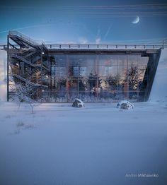 Концепт дома под автомобильным мостом      Автор проекта: