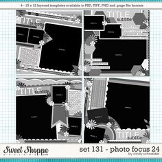 Cindy's Layered Templates - Set 131: Photo Focus 24 by Cindy Schneider