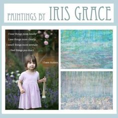 Iris Halmshaw - beautiful 3 year old girl who makes beautiful paintings...