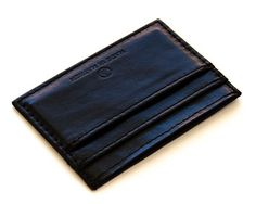 Made in Mayhem black vegetable tanned leather wallet
