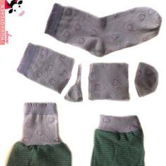 Socken als Bündchen verwursteln...super Idee, hab so viele kaputte von den Kindern