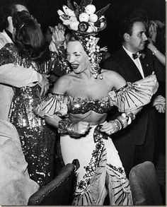 Carmen Miranda on the party!