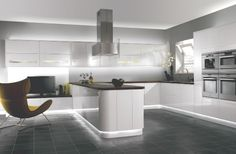 Soho - Lacquered Kitchens - Benchmarx Kitchens and Joinery