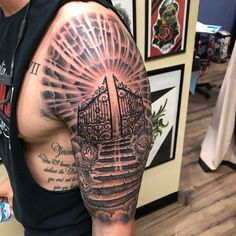 Image may contain: one or more people Half Sleeve Tattoos Forearm, Half Sleeve Tattoos For Guys, Forarm Tattoos, Half Sleeve Tattoos Designs, Forearm Sleeve Tattoos, Best Sleeve Tattoos, Hand Tattoos, Cloud Tattoo Sleeve, Turtle Tattoos