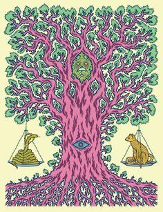Street Grapes — The Tree of Balance Art Print