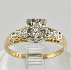 1950s Vintage Diamond Engagement Ring
