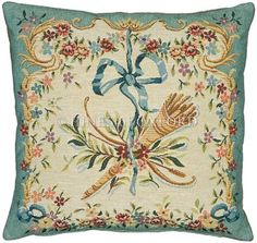 Tapestry Cushion Covers - Diane Vert is a French woven jacquard tapestry panel. This piece is from the Divertissement Collection celebrating art of the and century. The artwork Tapestry Fabric, Tapestry Wall Hanging, Rococo Style, Decorative Cushions, Cushion Covers, Gifts For Mom, Handmade, French, Quiver