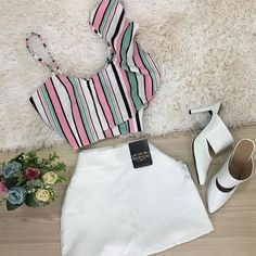 Chic Outfits, Pretty Outfits, Girl Outfits, Teenager Outfits, Fashion Outfits, Womens Fashion, Cute Fashion, Look Fashion, Outfits For Teens