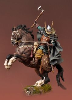 Viking on Horseback, 850 A.D. SV-05 54 mm 1/32 | The Vikings | Andrea Miniatures | Andrea Europe