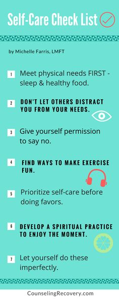 Self-care checklist | self love | self-care | self-esteem | personal growth To read more click the image. #selflove #selfcare #recovery