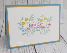Stampin' Up! - Number Of Years - Birthday Card ....  Teri Pocock - http://teriscraftspot.blogspot.co.uk/2016/01/number-of-years-birthday-card.html