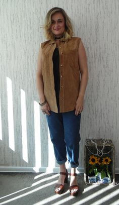 Vintage Oversized Suede Vest by SweetSpicyVintage on Etsy
