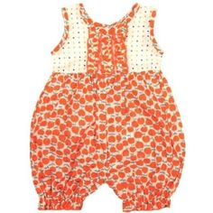 Kumquat Baby Romper in Red Cherries http://bit.ly/HkPSvH