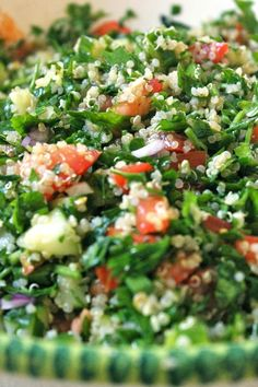 Quinoa Tabouli Salad | freshncrunchy: this is delicious. Husband and child approved, used this with the falafel recipe.
