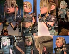 Hair • Astrid's hair is a 5-strand dutch braid tied off with brown cord. As her braid goes to mid-back, the original length was most likely near waist. • Her bangs are roughly cut into a straight...