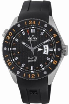 Edox Men's 93002 TIN NIN Class-1 Automatic GMT Watch Edox. $1101.50. 21 jewels Automatic movement; GMT; Black textured dial. Helium valve. Water-resistant to 1640 feet (500 M). 21 jewels Automatic movement. GMT. Save 62%!