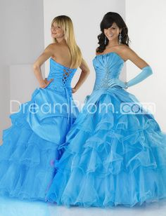 Taffeta Strapless Rouched Bodice with Floor Length Ball Gown Hot Sell Prom Dress PL22