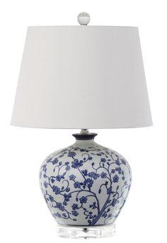 Chelsey 20 & # & # H Tischleuchte - Sebring Tk Blue And White Lamp, White Lamps, Blue Dinnerware, Blue Pottery, Bohemian Interior, Ginger Jars, White Decor, Light Art, Light Table