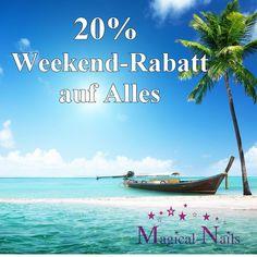 20% Weekend Rabatt - auf Alles - Anja Beck, 24h, Online-Shop für künstliche Fingernägel