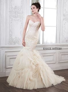 Dramatic and sophisticated is this mermaid wedding gown by Maggie Sottero... Meet Paulina.