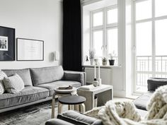 Masculine touch in a Gothenburg apartment | Photo by Jonas Berg for Stadshem | via Style and Create