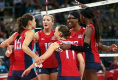 Indoor Volleyball Olympics 2012   US Olympic Women's Indoor Volleyball Team 2012: The 5 MVPs in Pursuit ...