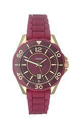 Fossil Riley Mini Silicone - Berry Women's watch #ES2978 Fossil. Save 20 Off!. $76.00. Red Plastic Strap. Date