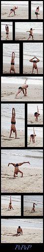 Yoga en la playa de Las Canteras. Canarias