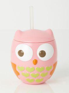 Owl Mug With Straw