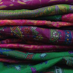 Summer Garden Silk Slinky Scarf