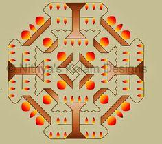 Deepam Kolam with dots 20 to 8 for Karthigai deepam festival and Deepavali festival. Traditional Rangoli, Rangoli Kolam Designs, Diwali Rangoli, Pictures To Draw, Triangle, Dots, Drawings, Pattern, Stitches