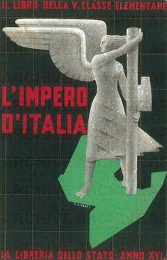 'L'Impero d'Italia'. Il libro della V classe elementare. La libreria dello Stato. Anno XVI, 1938