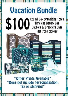 Vacationing soon? This bundle is only available through Sept. 30th and it puts you half way to a party!!!  Get yours now! www.mythirtyone.com/465350
