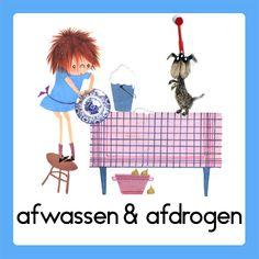 Afwassen & afdrogen Daily Schedule Preschool, Kids Planner, A Classroom, Working With Children, Schmidt, Diy For Kids, Kindergarten, Homeschool, Clip Art