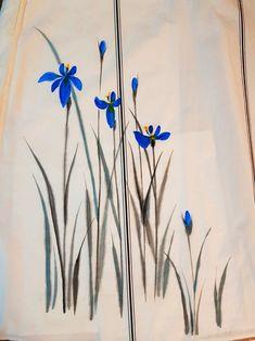 Watercolor Art, Drawings, Dress Painting, Fabric Painting, Painting, Watercolor Flowers, Fabric Art, Art, Creative Painting